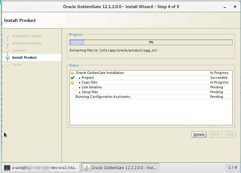 Oracle Golden Gate Install Wizard Step 4