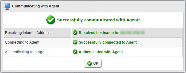 communicating with agent