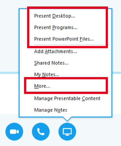Skype for Business Interface
